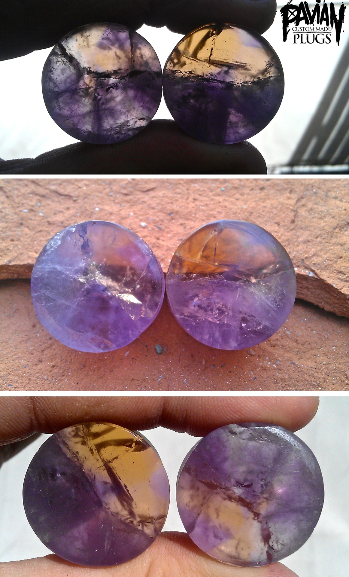 finished this 24mm amethyst pair today.here are some different backlight pics.