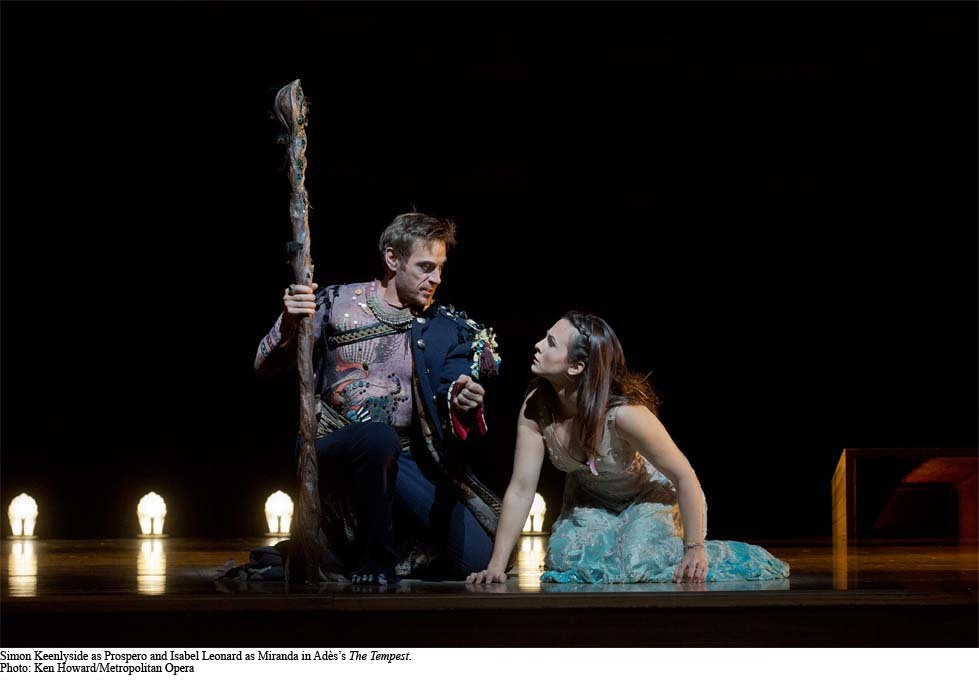 Barihunk Simon Keenlyside and Isabel Leonard in Ades' The Tempest