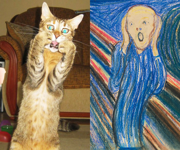 "blouinartinfo:  Is This Scaredy Cat Actually Paying Homage to Edvard Munch's ""The Scream""?"