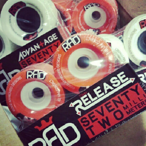 downhillways:  thesbskateshop:  Rad wheels came in today! The most impressive freeride wheel in the market right now! @radwheels #radwheels #longboard #freeride #downhill (at the SB skate co.)  i really want to try out the release's, but i just dont have that money to spend on a freeride wheel