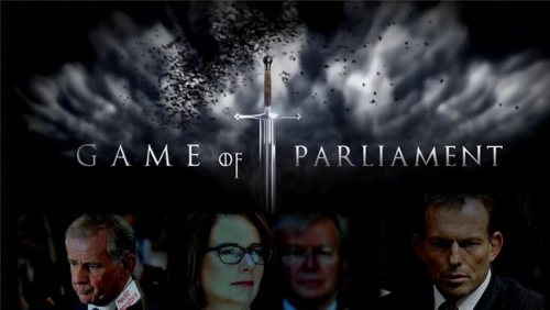 "winking-eye-alcohol-suggestion:  ""when you play the Game of Parliament, you win or you di- get relegated to the backbench for eternity"""