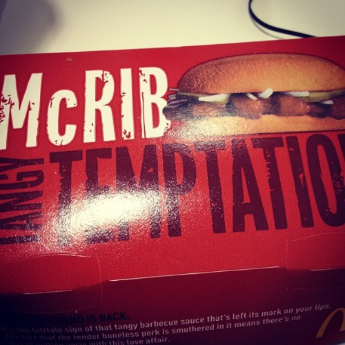 Ahhh McRib 😋☺😍 #food #yumm #mcdonalds #mcrib #tigergorawr #yeahbuddiiieeee #followme  (at Westfield Montgomery Mall)