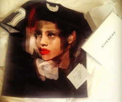 Givenchy custom shirt for Rihanna by Riccardo Tisci