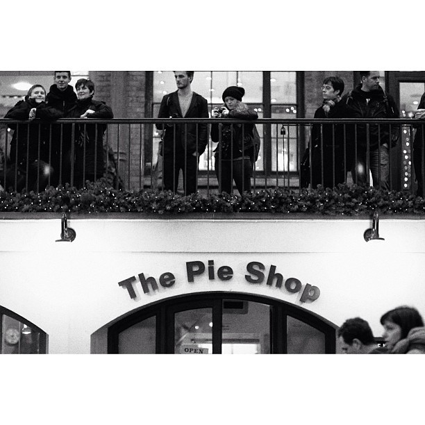 Pie.              The New Year Eve photograph will be posted soon after. #london #uk #bw #street #coventgarden #dslr #canon #christmas