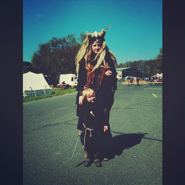 My daughter and ,me at her first medieval fair.