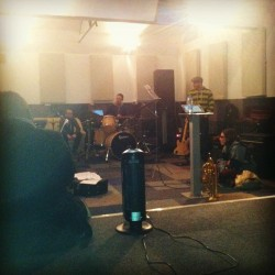 Typesun practise sounding heavy (at Rooftop Studios)