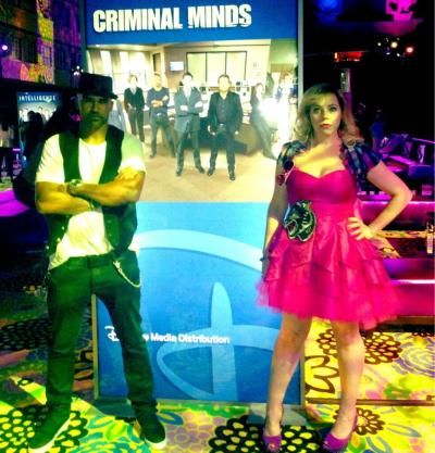 @Vangsness: @shemarmoore & I doing wax figure impersonations at work thing last night.