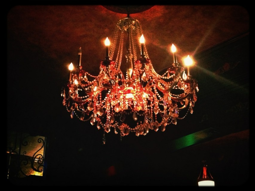 chandelier at Vintage Lounge by Frank on EyeEm