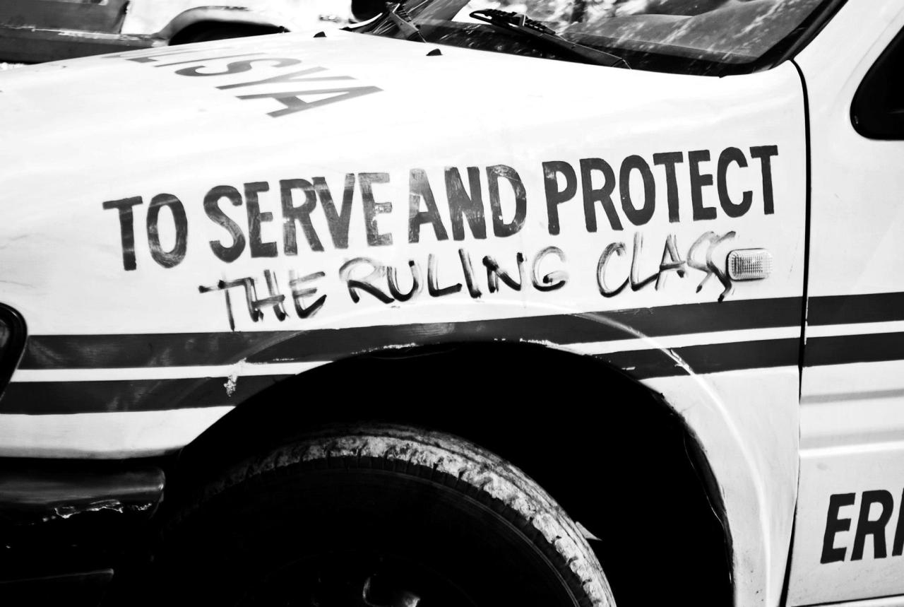 An honest cop car acynicmeetshope:   To Serve and Protect…. the ruling class