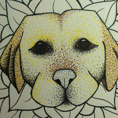 Super close up of a dog flower I drew for Mother's Day #acleveratrocity #art #wip