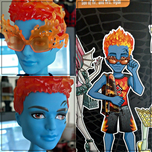monster-everafter-high-girls:  And finally we have Holt! He's got orangey red sunglasses, and his make-up is unchanged.