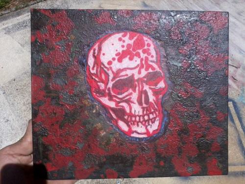 SkullionAcrylic and Enamel on hand stretched canvasEmail me at Ben@bssart.com for purchasing infoMore new art coming soon.