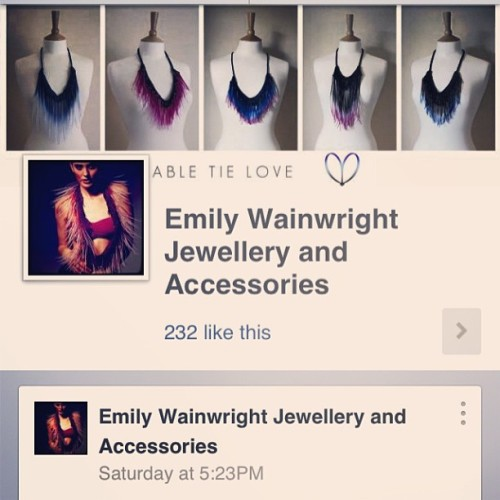 emilywainwrightdesigns:  Visit my Facebook page www.facebook.com/emilywainwrightaccessories for lots of #cabletielove
