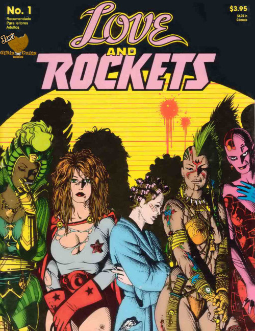 comicbookcovers:  fourbeatsoff  requested Love and Rockets. Love and Rockets #1, September 1982, cover by Jaime Hernandez