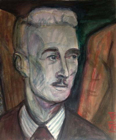 Dashiell Hammett, watercolor 37x46cm, May/2013 #berndblacha on Flickr.