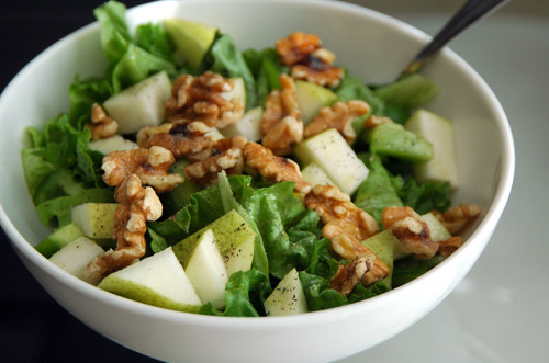 in-my-mouth:  Apple Walnut Salad