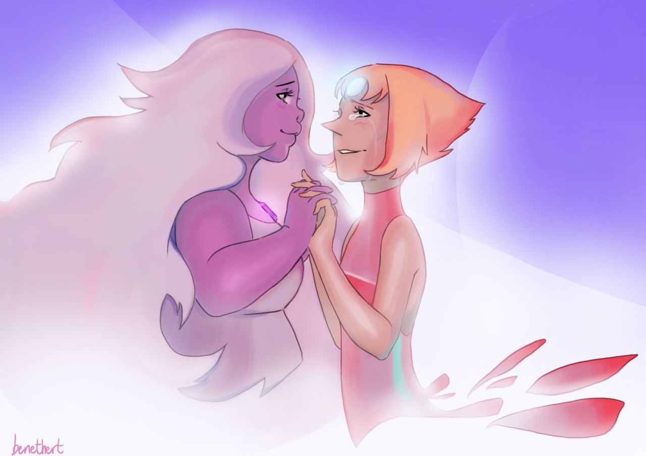 I was living in the past but somehow you've brought me back ♪♫ . . . Well… this has been in my mind for too long, and I had to draw it. I want Pearl to move on >.< And the only one able to help her is...