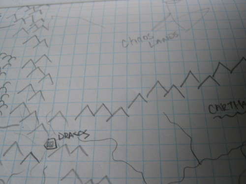 GameMaster problems: On Rough maps trying to figure out placings for forts/towns/villages and coming up with names for areas and regions.