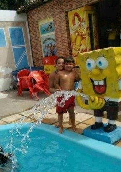 funny mine spongebob squarepants pool swimming
