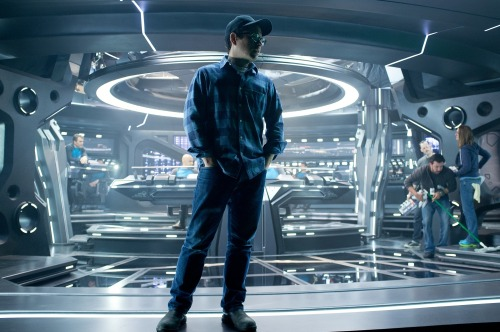 J.J. Abrams on-set of Star Trek Into Darkness (2013)