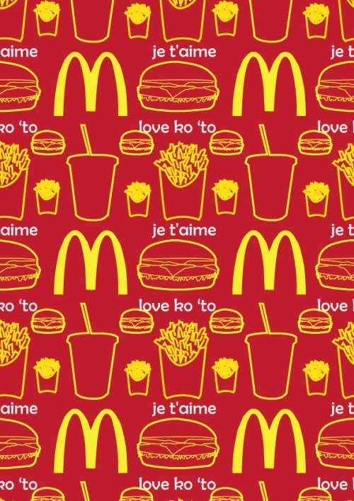 McDonald's Seamless Pattern