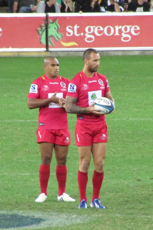 footy-head:  Quade Cooper and Will Genia at Reds vs Sharks