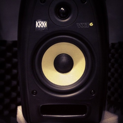 New studio monitors at work!! Woohoo!! (at United Music)