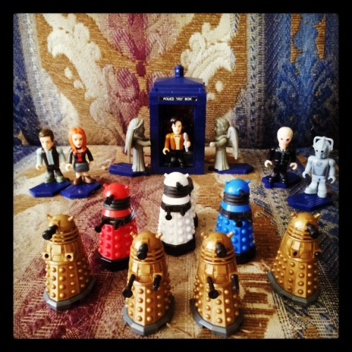 Flash's #DoctorWho micro-figure collection is gettin' strong.