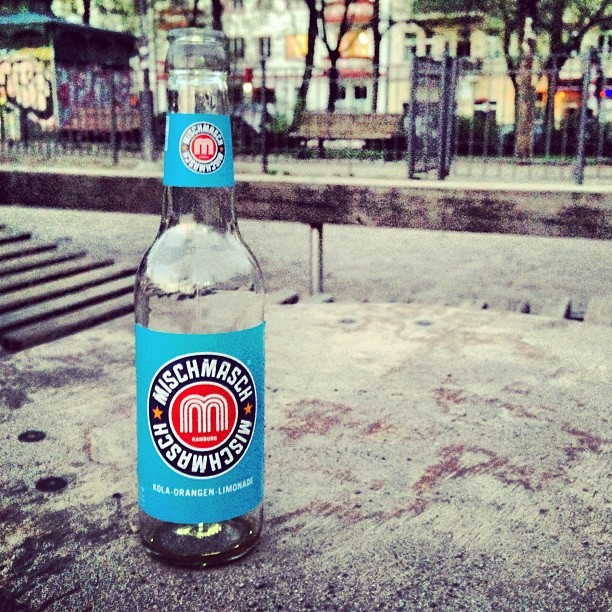 nice drink, nice bottle !! #mischmasch (at Boxhagener Platz)