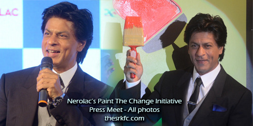Shah Rukh at Nerolac's Paint The Change Initiative Press Conf - All (94) photos (X)