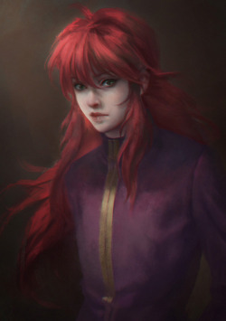 fictionalredheads:  kurama by *Elda-QD