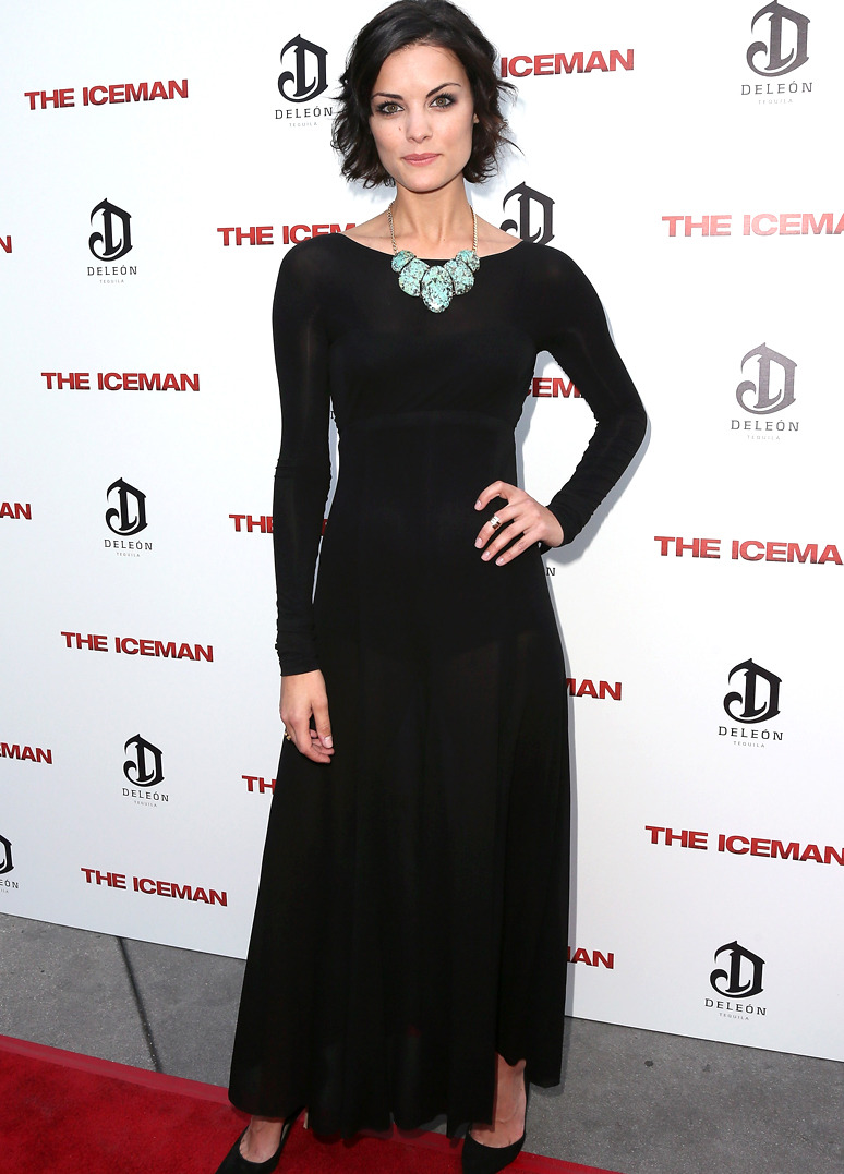 JAIMIE ALEXANDER  Jaimie Alexander wore Donna Karan Pre-Fall 2013 Look 23 to the Los Angeles special screening of Millennium Entertainment's 'The Iceman' at ArcLight Hollywood on April 22, 2013 in Hollywood, California. Photo by David Livingston/Getty Images
