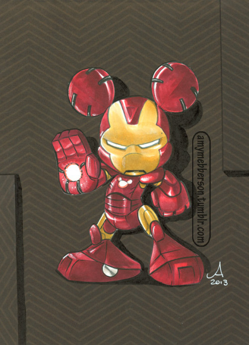 dcu:  Marvel at Midnight by amymebberson:  Iron Mouse - seems like good a time as any to post this :) Custom piece made for C2E2's 2013 charity auction to benefit St Jude's Hospital.
