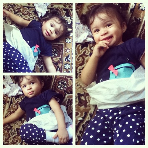 My model 😘 #babysis #polkadots