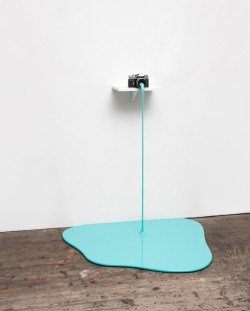 oculablog:MARKUS HOFER - Farboto (Cyan), 2015, Camera, MDF board, metal, spackle, lacquer, 110 x 90 x 90 cm, Image courtesy of Mario Mauroner Contemporary Art Salzburg-Vienna