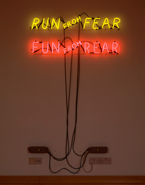 Run From Fear, Fun From Rear, 1972 by Bruce Nauman