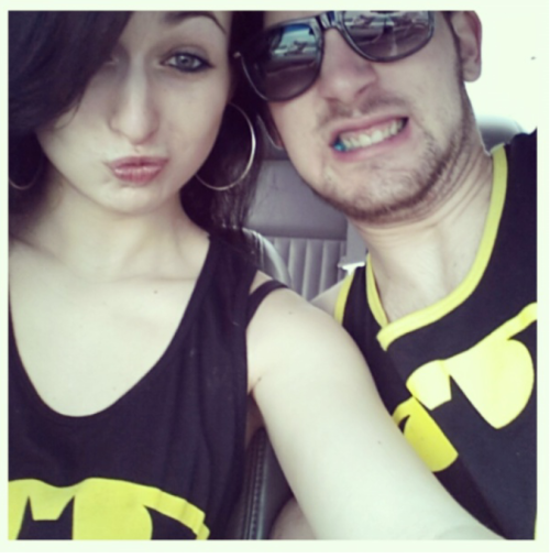 """A couple that rocks Batman together, kicks ass together"". 11 months with this handsome man, and we a sexy as fuck couple ;)"