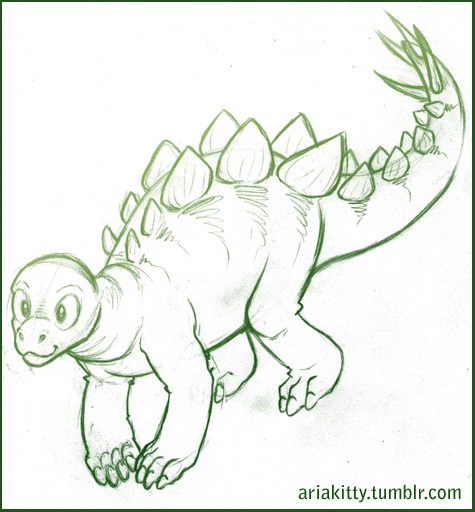 ohgodhesloose asked if I'd ever drawn a dinosaur before. The answer is yes, but this is the first time I've drawn one in like 20 years.