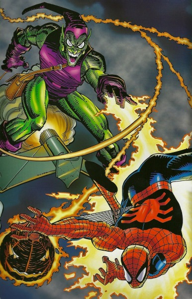 Spider-Man Battles The Green Goblin By John Romita Jr.