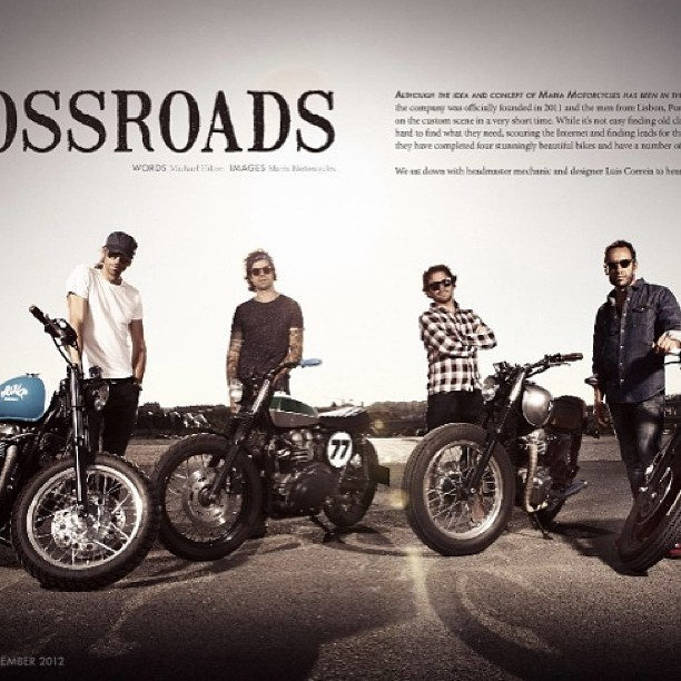 (Classic rewind) Meet Portugal's Maria Motorcycles in Issue Three / September 2012. Next 24 hours get caught up with the everything collection - all back issues since the beginning & every issue in '13 for just $25. shop.ironandair.com #awesomeweekend #motorcycle #overload