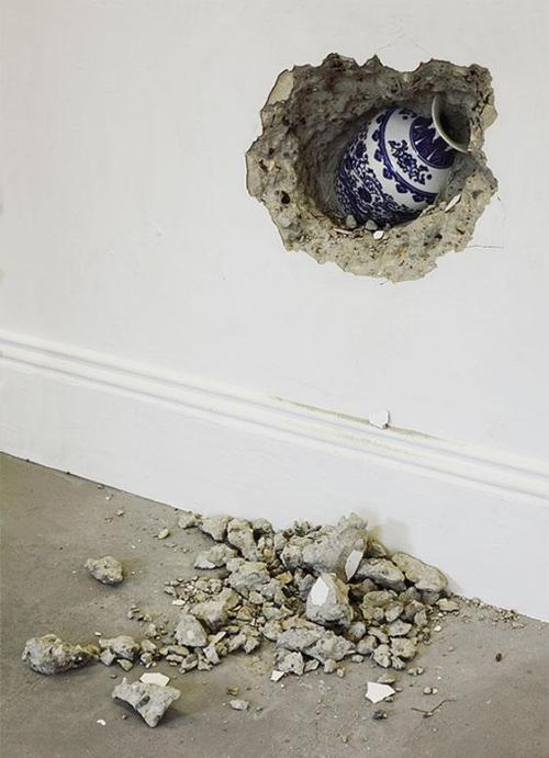 exasperated-viewer-on-air:  Shan Hur - Forgotten No. 2, 2010 concrete, plywood, timber, vase 150 x 450 x 30 cm