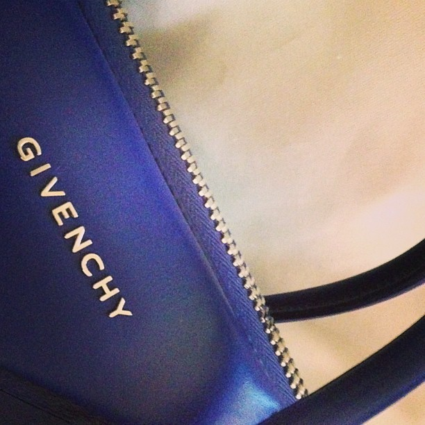 I seemingly have a thing for #blue bags. Third one this year. Oops. #givenchy #bag #pretty #wiwt #ootd #instafashion #instastyle #ransomphoto