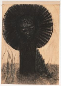 centuriespast:  Germination Odilon Redon (French, 1840–1916) (c. 1890-96). Pastel, chalk, and pencil on colored paper MoMA