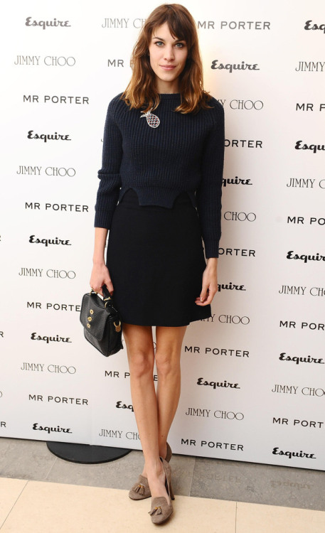 femme-belle:  ecologistic:  Alexa Chung at the Esquire & Mr. Porter London Collection's Men's Party  alexa is fucking perfect