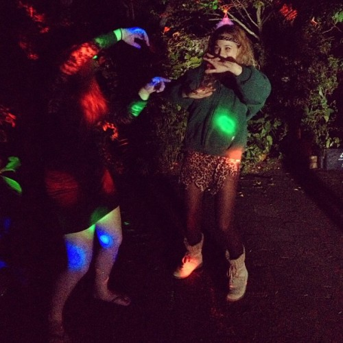 Hailey and jawjah #dance @hailey_alea Rosie's 18th #awyeh #lights