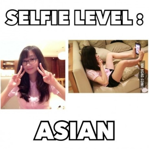 9gag:  The selfie game is strong with this one. #9gag  Shawn's future waifu…