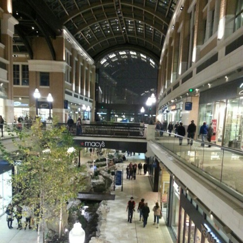 Amazing new mall with retractable roof system (at The Creek at City Creek Center)
