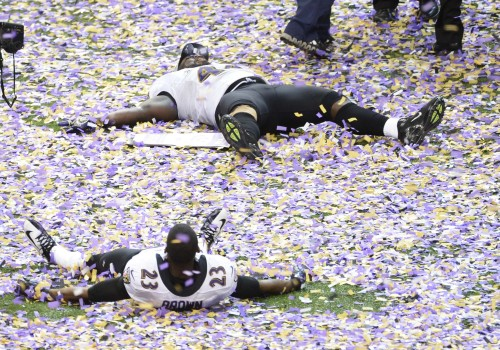 The Ravens won the Super Bowl! Cue the confetti angels!