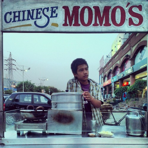 No one can beat these local momos waala….. M loving it!! #Momos #StreetFood :-)