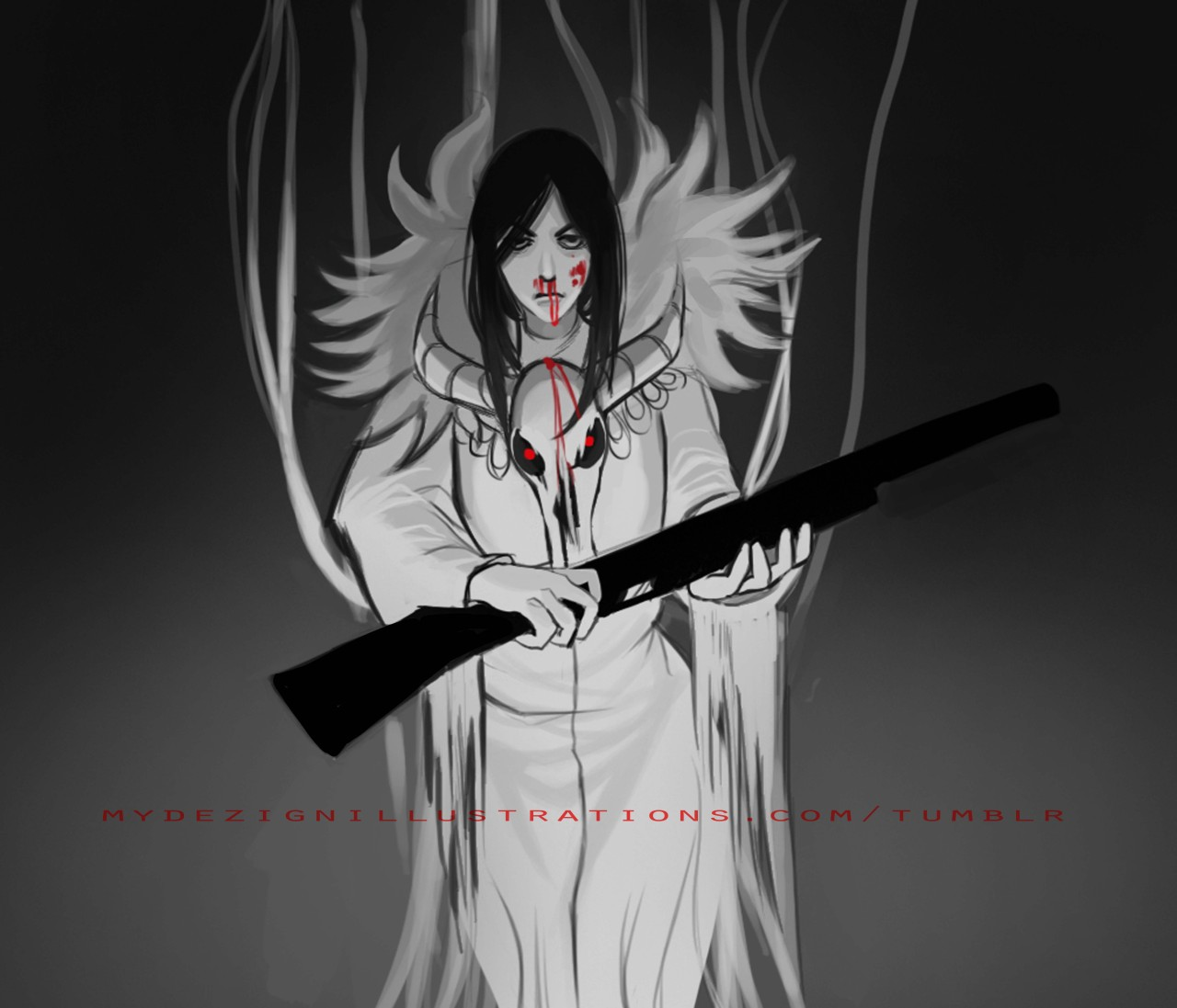 mydezignillustrations: she found her inner darkness a 1 hour sketch in CS5*